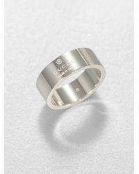 Gucci Metallic Stripes Ring for men