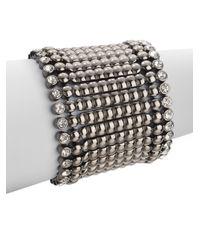 Kenneth Jay Lane | Metallic Wide Stretch Bracelet | Lyst