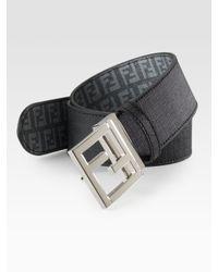 Fendi | Gray Logo Reversible Belt for Men | Lyst