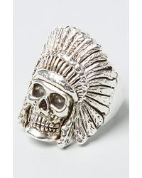 Han Cholo - Metallic The Indian Chief Ring for Men - Lyst