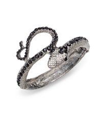 Kenneth Jay Lane | Black Jetaccented Snake Bracelet | Lyst