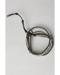 M. Cohen - Metallic The Silver Feather Rope Beaded Bracelet for Men - Lyst