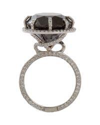 Sharon Khazzam | Metallic Women's Natural Black Diamond Ring | Lyst