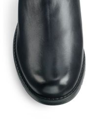 Stuart Weitzman - Black Clute Quilted Leather Flat Boots - Lyst
