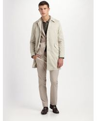 Theory - Natural Decker Sturdy Car Coat for Men - Lyst