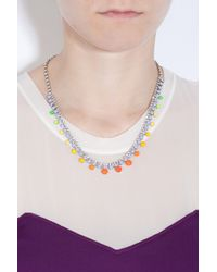 Tom Binns - Multicolor Rainbow Dot Stone Necklace - Lyst