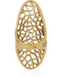 Zadig & Voltaire Metallic By Gaia Repossi 18karat Goldplated Ring