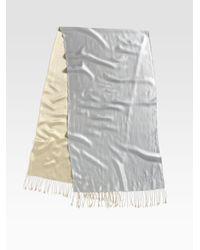 Armani Metallic Double Sided Silk Scarf