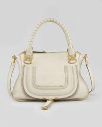Chloé Natural Marcie Medium Shoulder Bag White