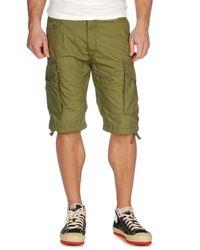 DIESEL - Green Ensorbsho Cargo Shorts for Men - Lyst