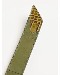 Dries Van Noten Green Mens Contrast Tip Velcro Belt for men