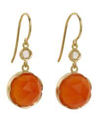 Irene Neuwirth | Orange Gemstone Double-drop Earrings | Lyst