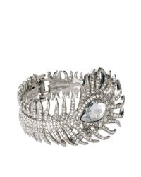Kenneth Jay Lane - Metallic Statement Art Deco Cuff - Lyst