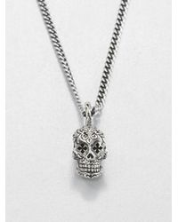 King Baby Studio Metallic Dead Skull Pendant Necklace for men