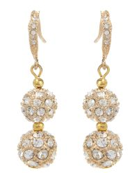 Mikey | Metallic Crystal Heavy Earring | Lyst