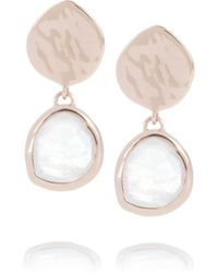 Monica Vinader | Metallic Siren Rose Goldplated Moonstone Earrings | Lyst