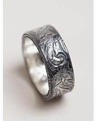 Nonnative | Metallic Mens Western Flower Ring for Men | Lyst