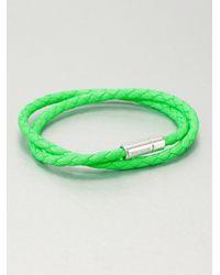 Tateossian | Green Silver Pop Scoubidou Bracelet | Lyst