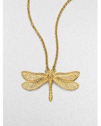 Alexander McQueen | Metallic Dragonfly Pendant Necklace | Lyst
