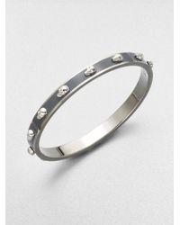 Alexander McQueen | Gray 3d Enamel Skull Small Bangle Bracelet/silvertone | Lyst