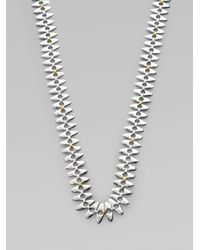 Gurhan - Metallic 24k Gold Sterling Silver Linked Seed Necklacelong - Lyst
