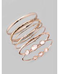Ippolita Pink Rose 2diamond Bangle Bracelet