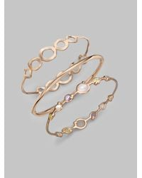 Ippolita | Metallic Rose Carino Double Tiara Bangle Bracelet | Lyst