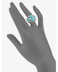 Ippolita - Blue Rock Candy Turquoise & Sterling Silver Constellation Ring - Lyst