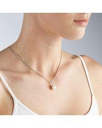 John Lewis - White Pearl Diamantã Pendant Necklace - Lyst