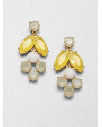 kate spade new york | White Chandelier Earrings | Lyst