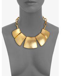 Kenneth Jay Lane | Metallic Geometric Bib Necklace | Lyst