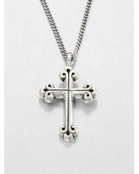 King Baby Studio | Metallic Traditional Cross Pendant Neclace for Men | Lyst