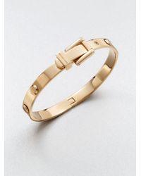 Michael Kors | Metallic Astor Rivet Buckle Bangle Bracelet/Rose Goldtone | Lyst