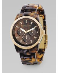 Michael Kors | Brown Tortoise Sports Bracelet | Lyst