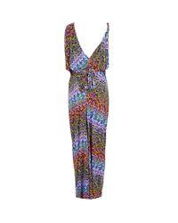 T-bags - Multicolor Tie Waist Maxi Dress - Lyst