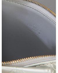 Louis Vuitton Metallic Monogram Silver Vernis Bag