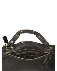 Golden Lane - Black Large Washed Leather Duo Satchel - Lyst