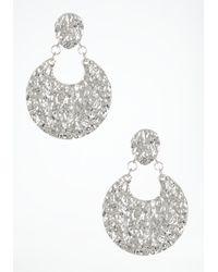 Bebe - Metallic Hammered Disc Statement Earrings - Lyst