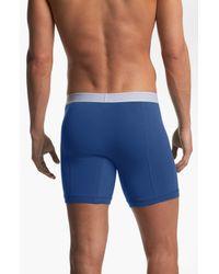 Burberry | Blue Stretch Cotton Boxer Briefs for Men | Lyst