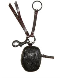 Dolce & Gabbana - Black Mini Leather Coppola Charm Key Holder for Men - Lyst
