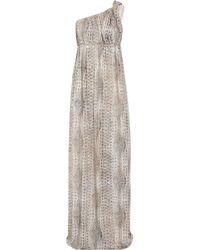Melissa Odabash | Metallic Savannah One-shoulder Jersey Maxi Dress | Lyst