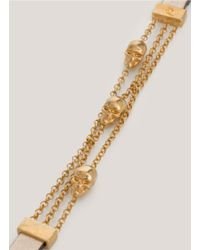 Alexander McQueen - Metallic Double Wrap Chain Bracelet - Lyst