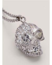 Alexander McQueen - Metallic Twofaced Skull Necklace - Lyst