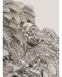 Alexander McQueen - Metallic Wing Skull Bangle - Lyst