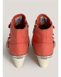 Ash - Orange Genial Canvas Wedge Sneakers - Lyst