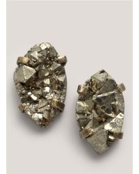 Citrine by the Stones | Metallic Pyrite Earrings | Lyst