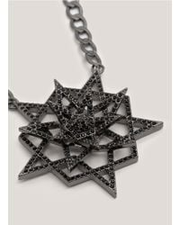 Eddie Borgo - Metallic Pavé-pentagram Pendant Necklace - Lyst