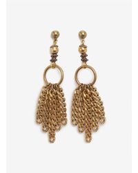 Ela Stone | Metallic Chain-tassel Earrings | Lyst
