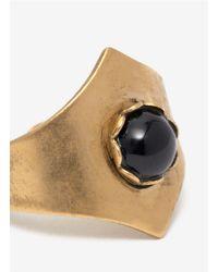 Ela Stone - Metallic Pointed Brass Stone Ring - Lyst