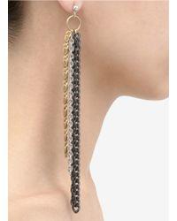 Ela Stone | Multicolor Long Multi-chain Earrings | Lyst